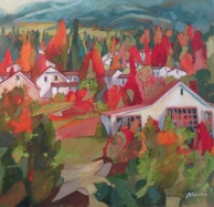 "Down in the Valley 36x36"" 130102"